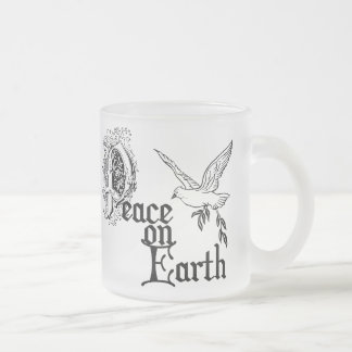 Birth of Jesus Frosted Glass Coffee Mug