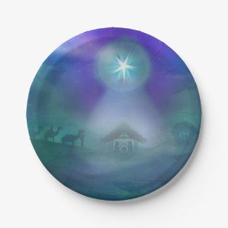 birth of Jesus Paper Plate 7 Inch Paper Plate