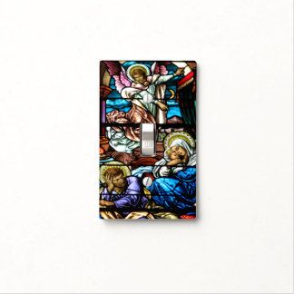 Birth of Jesus Stained Glass Window Light Switch Cover