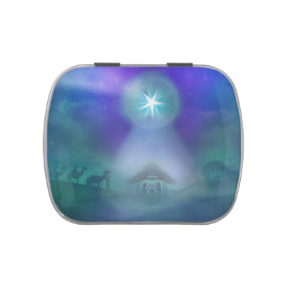 birth of Jesus Sweet Tin Jelly Belly Candy Tins