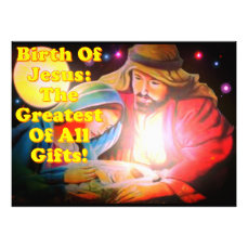 Birth Of Jesus: The Greatest Of All Gifts! Photo Print