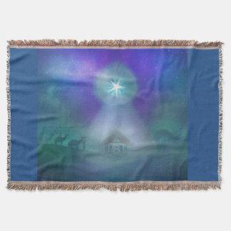 birth of Jesus Throw Blanket