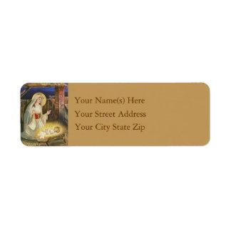 Birth of Jesus Vintage Christmas Return Address Label