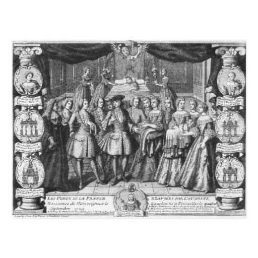 Birth of Louis, Dauphin of France Postcards