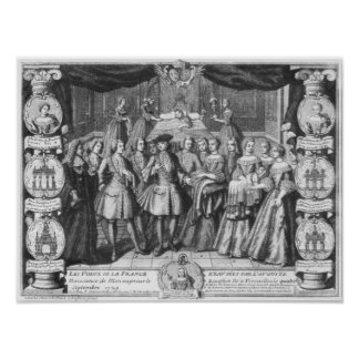 Birth of Louis, Dauphin of France Posters