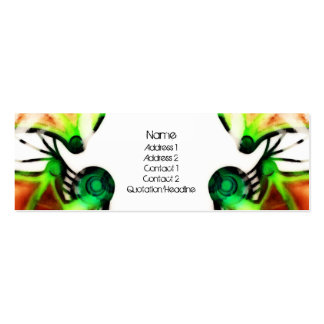 Birth of Mars - Reflect - Earth (Green & Brown) -  Double-Sided Mini Business Cards (Pack Of 20)