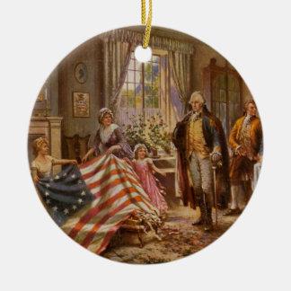 Birth of Old Glory - Edward Moran (1917) Ceramic Ornament