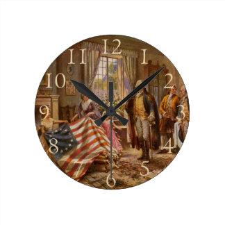 Birth of Old Glory - Edward Moran (1917) Round Clock