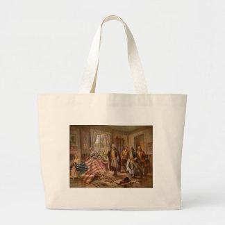 Birth of Old Glory - Edward Moran (1917) Large Tote Bag
