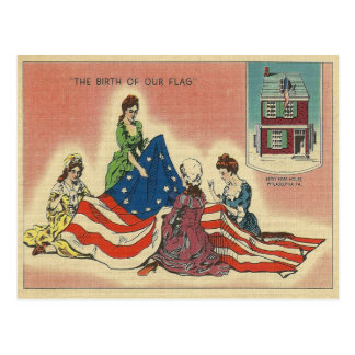 Birth of Our Flag Postcard