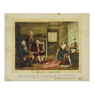Birth of Our Nation's Flag by Thomas & Wylie Poster