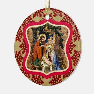 Birth of our Savior Jesus Christ Custom Ornament