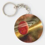 Birth of Saturn Basic Round Button Keychain