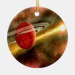 Birth of Saturn Double-Sided Ceramic Round Christmas Ornament