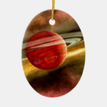 Birth of Saturn Double-Sided Oval Ceramic Christmas Ornament