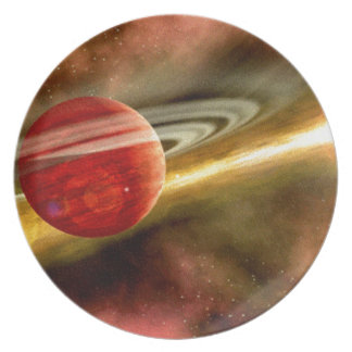Birth of Saturn Party Plate