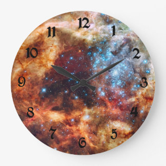 Birth of Stars Cosmic Clouds Creation Nebula Large Clock