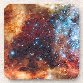 Birth of Stars Cosmic Creation Blue Star Cluster Coaster