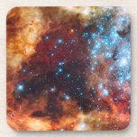 Birth of Stars Cosmic Creation Blue Star Cluster Beverage Coaster