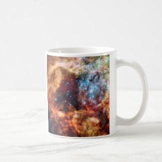 Birth of Stars Cosmic Mug White Ceramic