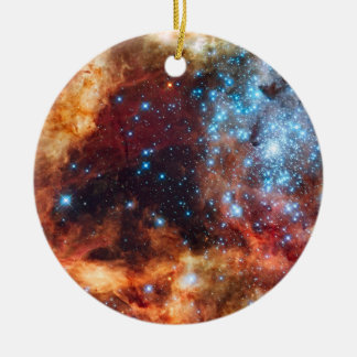 Birth of Stars Cosmic Nebula Blue Stars Ornament