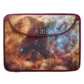 Birth of Stars Cosmic Red Clouds Blue Star Cluster Sleeves For MacBook Pro