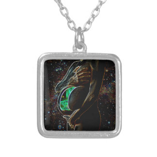 Birth of the android and extraterrestrial baby personalized necklace
