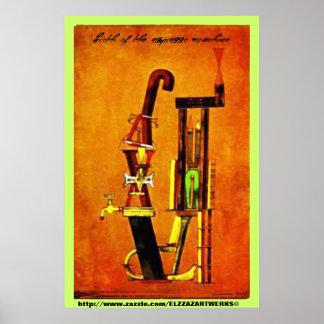 """""""birth of the espresso machine"""" posters"""