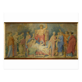 Birth of the Muses by Jean Auguste Dominique Ingre Postcard