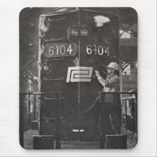 Birth of The Penn Central Railroad Train System Mousepads