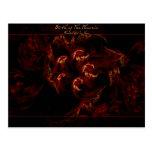 Birth of the Phoenix fractal art postcard