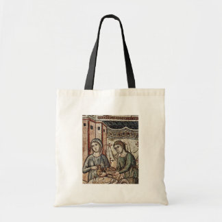 Birth Of The Virgin Detail By Cavallini Pietro Tote Bags
