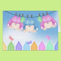 Birth of Triplets Card