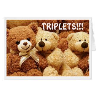 BIRTH OF *TRIPLETS* TRIPLE LOVE, HUGS & KISSES CARD