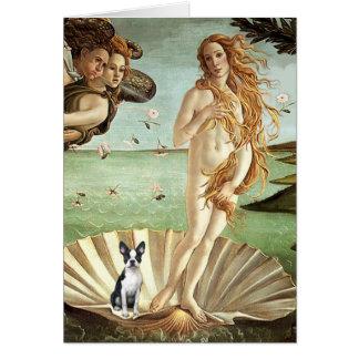 Birth of Venue Venus - Boston Terrier #1 Greeting Card