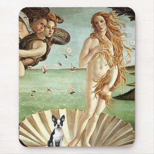 Birth of Venue Venus - Boston Terrier #1 Mouse Pad