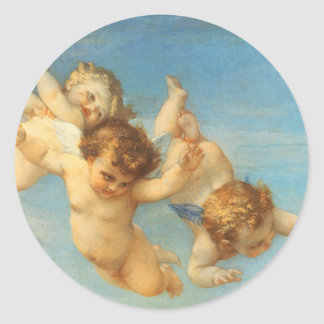 Birth of Venus, Angels detail by Cabanel Classic Round Sticker