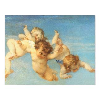 "Birth of Venus, Angels detail by Cabanel 4.25"" X 5.5"" Invitation Card"
