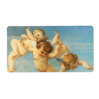 Birth of Venus, Angels detail by Cabanel Label