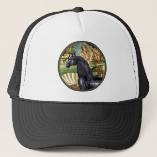 Birth of Venus - Black Arabian Horse Trucker Hat