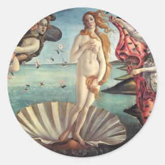 Birth of Venus Botticelli Classic Round Sticker