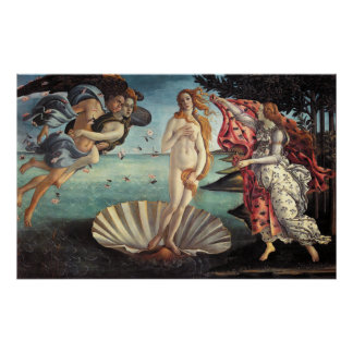 Birth of Venus Botticelli Poster