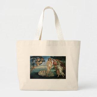 Birth of Venus by Botticelli Large Tote Bag
