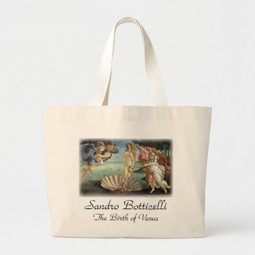 Birth of Venus by Botticelli, Renaissance Art Tote Bag