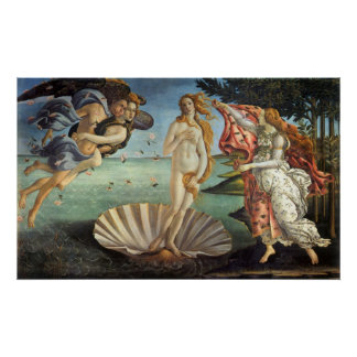 Birth of Venus by Botticelli Renaissance Art Posters