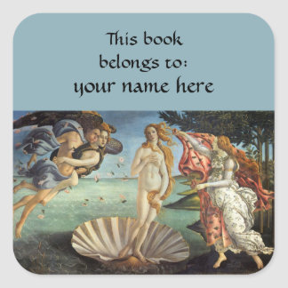 Birth of Venus by Sandro Botticelli Bookplate