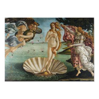 """Birth of Venus by Sandro Botticelli 5"""" X 7"""" Invitation Card"""