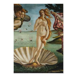 Birth of Venus by Sandro Botticelli Personalized Invite