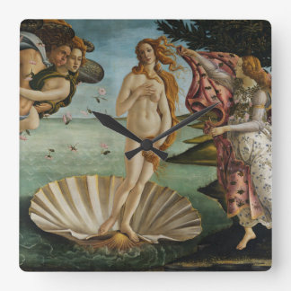 Birth of Venus by Sandro Botticelli Square Wall Clock