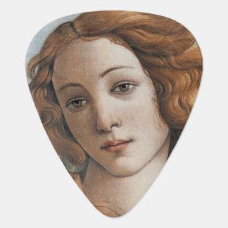 Birth of Venus close up by Sandro Botticelli Guitar Pick